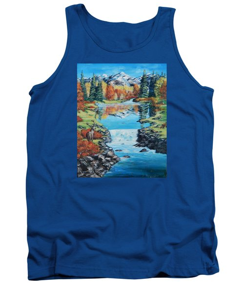 Autum Stag Tank Top