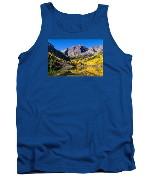 Autumn Morning At The Maroon Bells Tank Top by Teri Virbickis