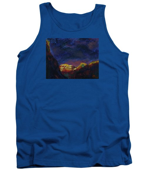 Autumn Sunset Over Half Dome 2013 A Tank Top by Walter Fahmy