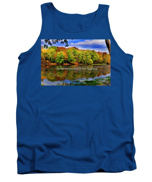 Tank Top featuring the photograph Autumn Wonders Giving by Diane E Berry