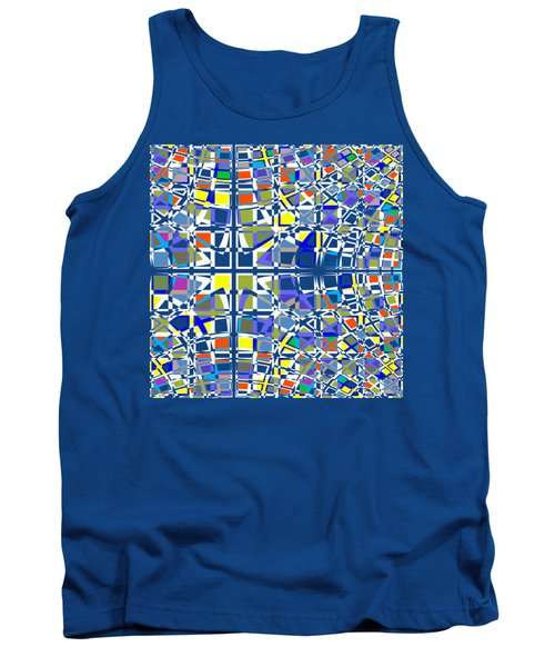 Background Choice Squares Tank Top by Barbara Moignard