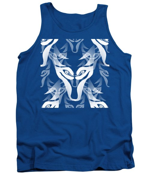 Background Choice White Wolf Tank Top by Barbara Moignard