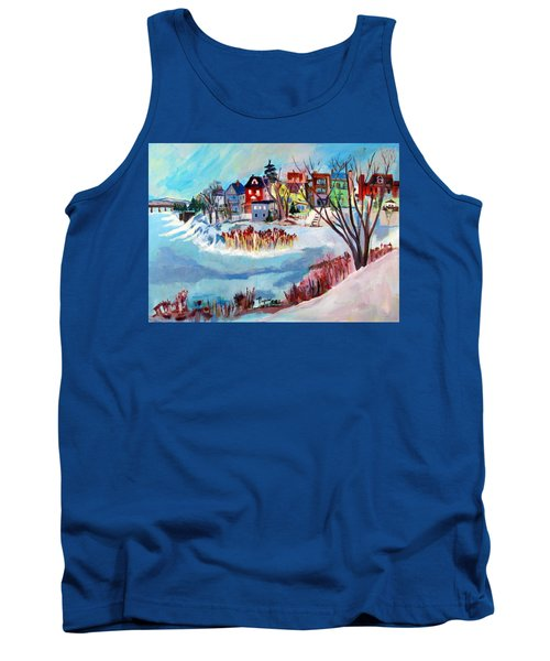 Backside Of Schenectady Stockade In February Tank Top