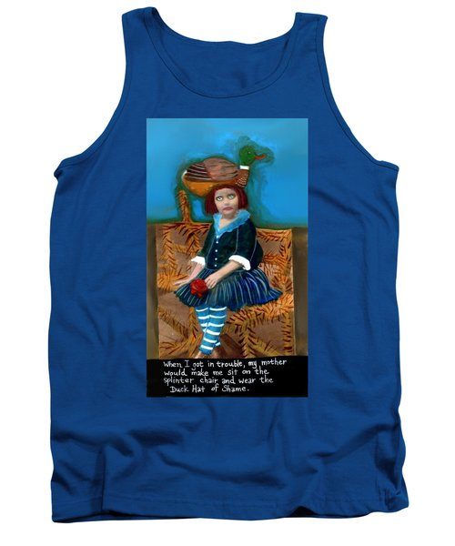 Bad Children Had To Wear The Duck Hat Of Shame Tank Top