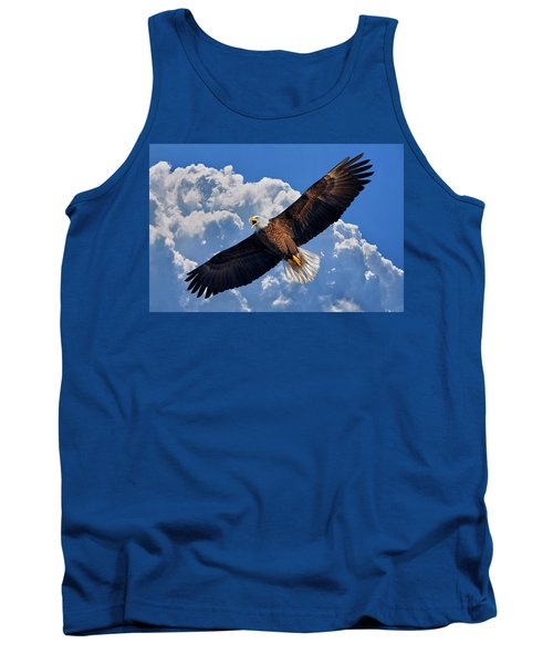 Bald Eagle In Flight Calling Out Tank Top
