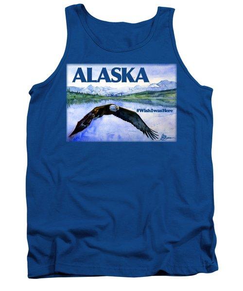 Bald Eagle Over Ocean Shirt Tank Top