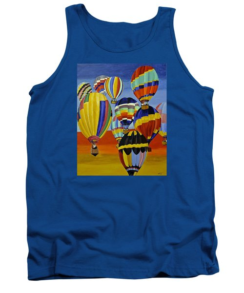 Balloon Expedition Tank Top by Donna Blossom