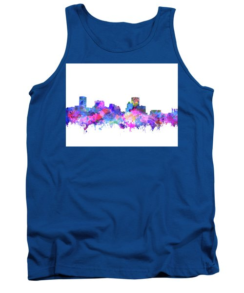 Tank Top featuring the painting Baltimore Skyline Watercolor 4 by Bekim Art