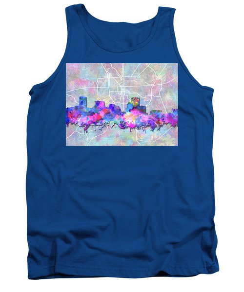 Tank Top featuring the painting Baltimore Skyline Watercolor 6 by Bekim Art