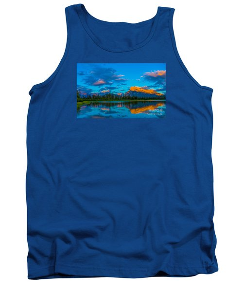 Banff Vermillion Lakes Tank Top by John Roberts