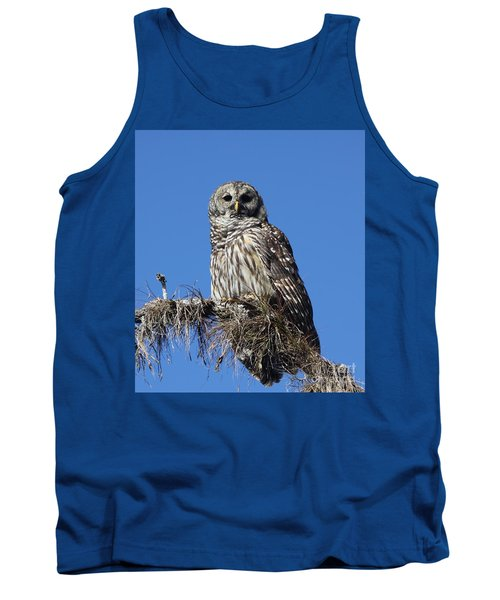 Barred Owl Portrait Tank Top