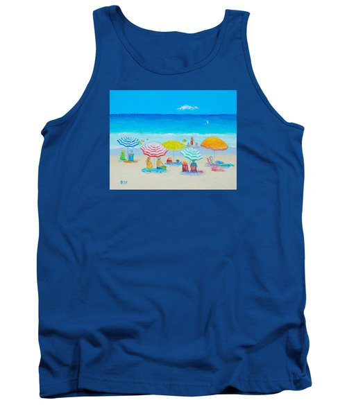Beach Painting - Catching The Breeze Tank Top by Jan Matson