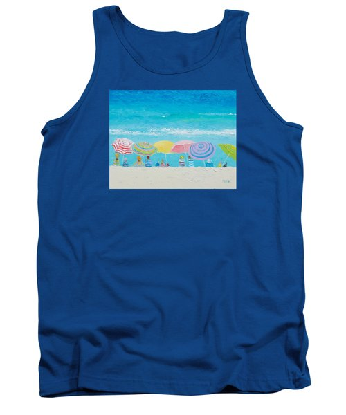 Beach Painting - Color Of Summer Tank Top by Jan Matson