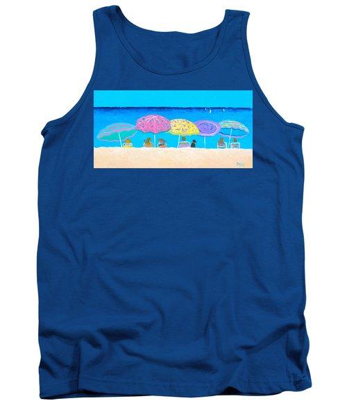 Beach Sands Perfect Tans Tank Top by Jan Matson