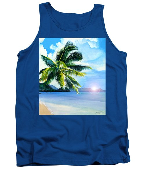 Tank Top featuring the painting Beach Scene by Curtiss Shaffer