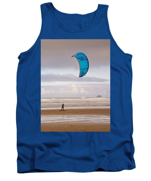 Tank Top featuring the photograph Beach Surfer by Wendy McKennon