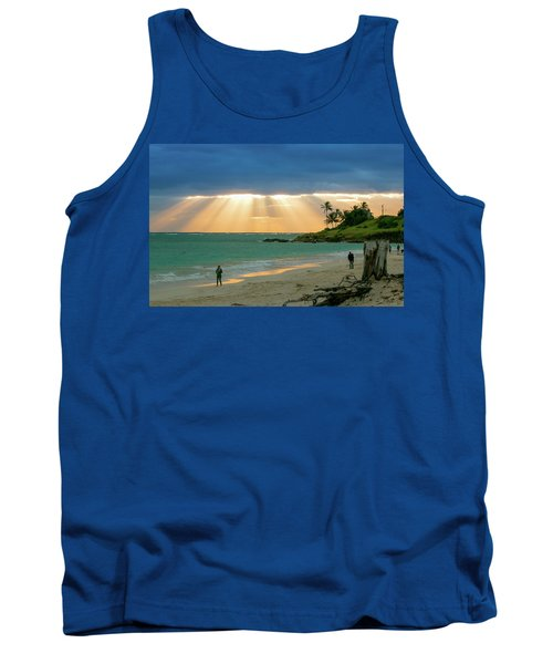 Beach Walk At Sunrise Tank Top