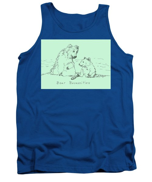 Tank Top featuring the drawing Bear Necessities by Denise Fulmer