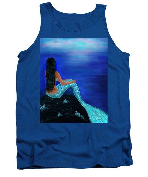 Tank Top featuring the painting Beauty Of The Isle by Leslie Allen