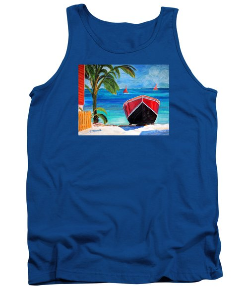 Tank Top featuring the painting Belizean Dream by Janet McDonald