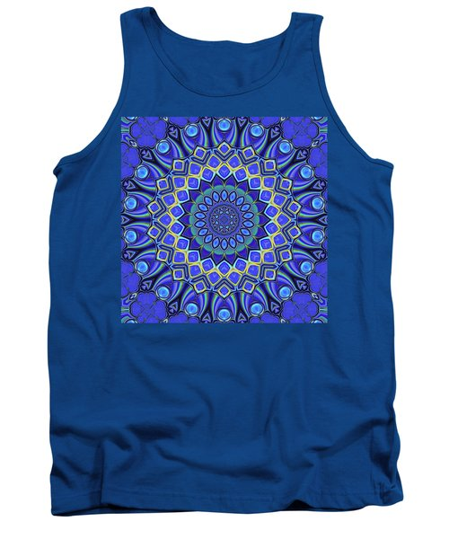 Tank Top featuring the digital art Bella - Blue by Wendy J St Christopher
