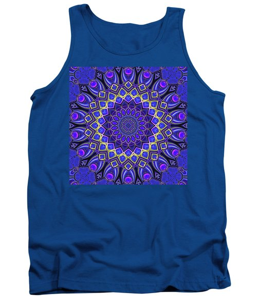 Tank Top featuring the digital art Bella - Purple by Wendy J St Christopher