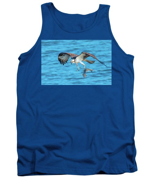 Best Osprey With Fish In One Talon Tank Top by Jeff at JSJ Photography