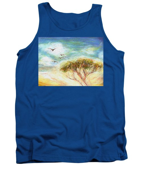 Tank Top featuring the drawing Betty's Tree by Denise Fulmer