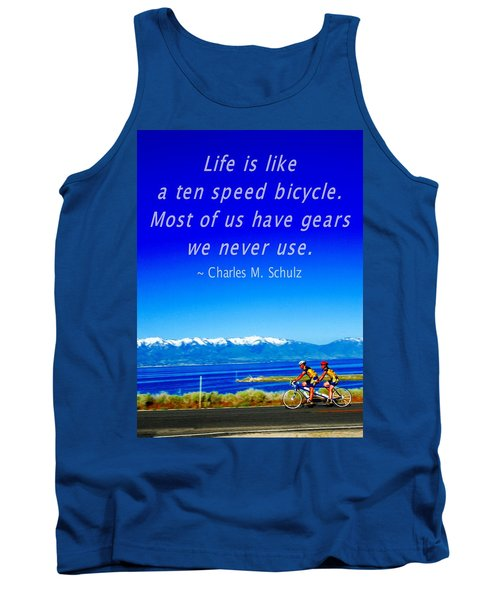 Bicycle Charles M Schulz Quote Tank Top
