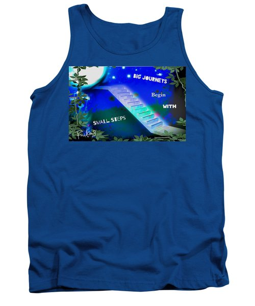 Big Journeys......small Steps Tank Top by Diana Riukas