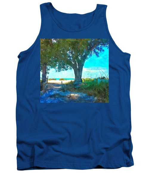 Bike To The Beach Tank Top