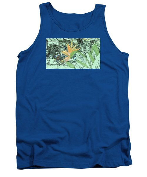 Tank Top featuring the photograph Bird Of Paradise In The Hothouse by Nareeta Martin