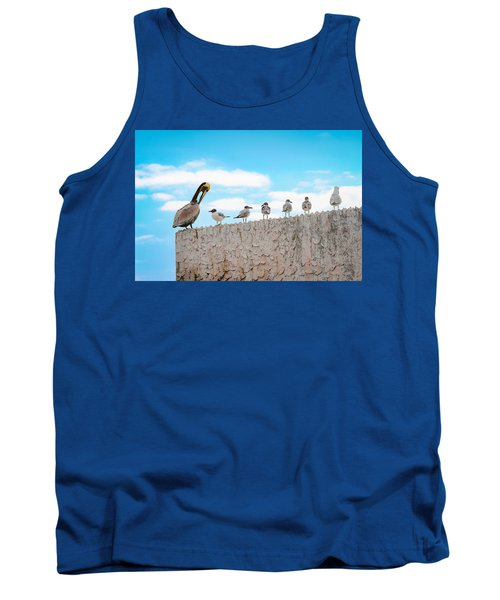 Birds Catching Up On News Tank Top