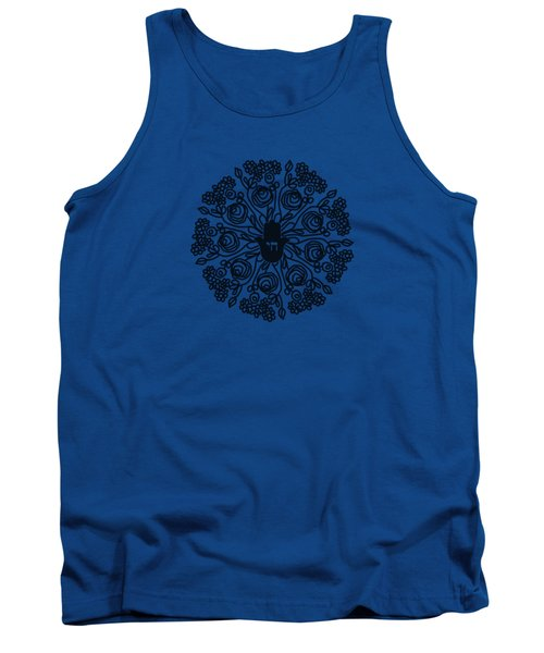 Black And White Hamsa Mandala- Art By Linda Woods Tank Top