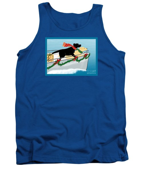 Black And Yellow Labs Boat To Christmas Tank Top