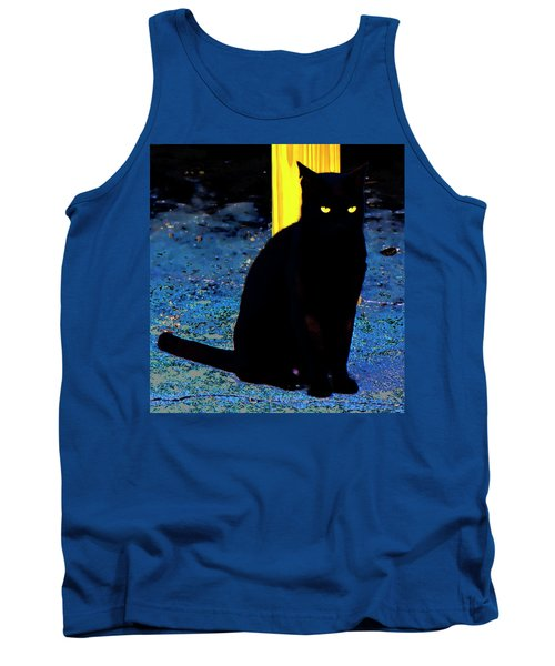 Black Cat Yellow Eyes Tank Top