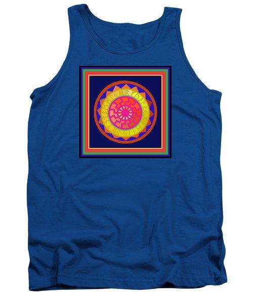 Black Sun Mandala Rune Calendar Tank Top