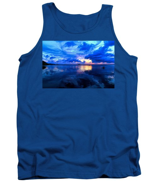 Blazing Blue Sunset Tank Top