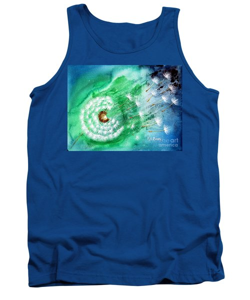 Tank Top featuring the painting Blown Away by Maria Barry