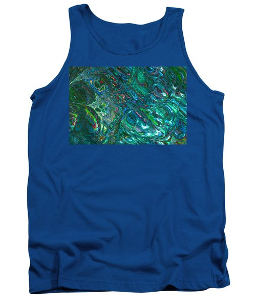 Blue Abalone Abstract Tank Top
