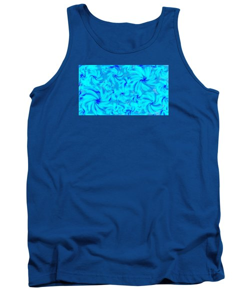 Blue And Turquoise 2 Tank Top by Linda Velasquez