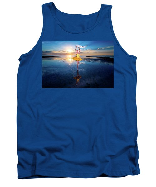 Blue And Yellow 2 Tank Top