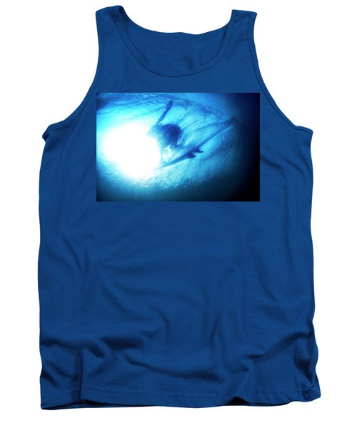 Blue Barrel Tank Top