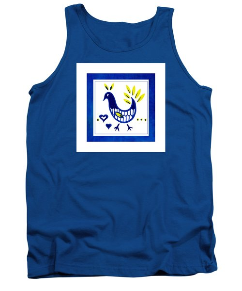 Blue Bird No1 Tank Top by Bonnie Bruno