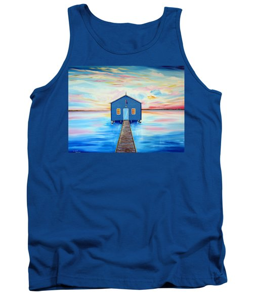 Blue Boat Shed By The Swan River Perth Tank Top