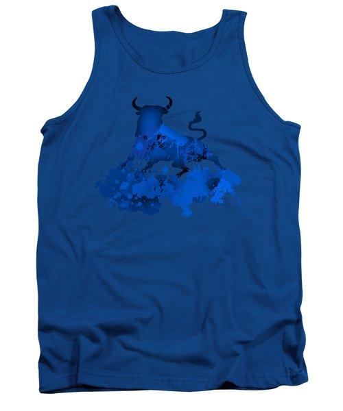 Tank Top featuring the digital art Blue Bull by Alberto RuiZ