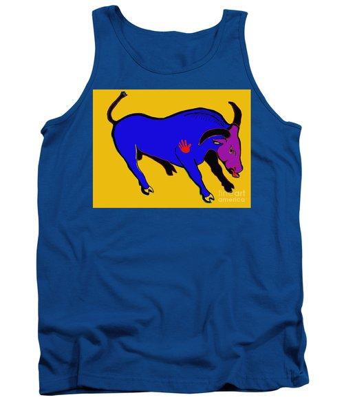 Blue Bull Tank Top