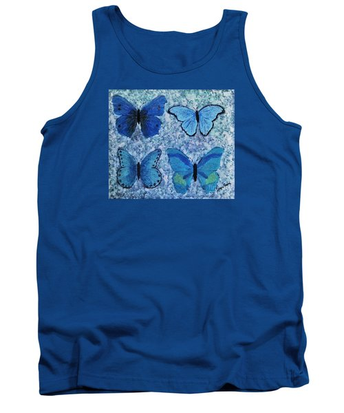 Blue Butterflies Tank Top