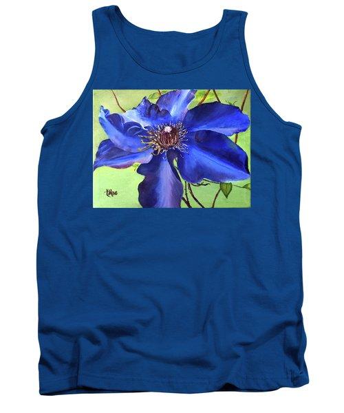 Blue Clematis Tank Top