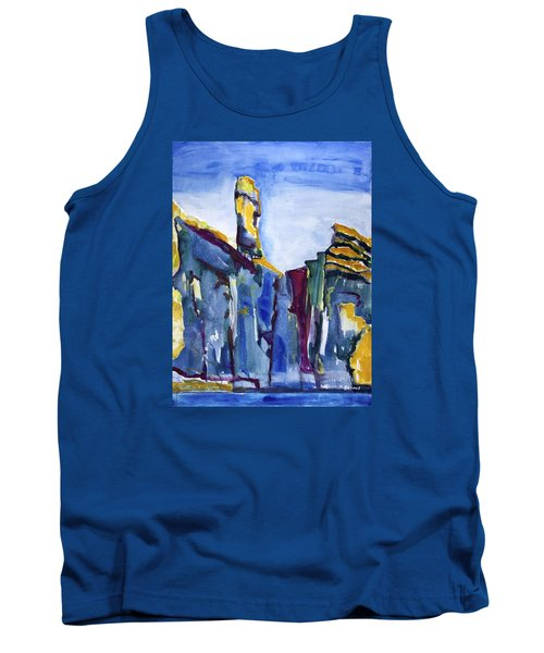 Blue Cliffs, Sea And Sky Tank Top